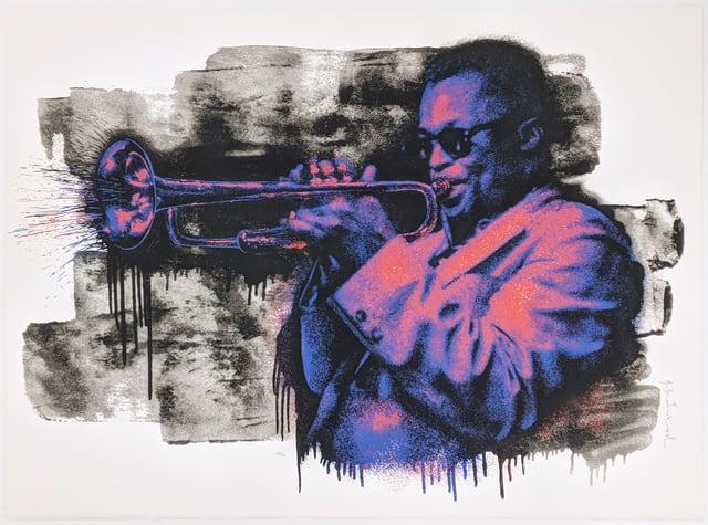 Mr. Brainwash, Miles Davis (Purple/Orange), 2015