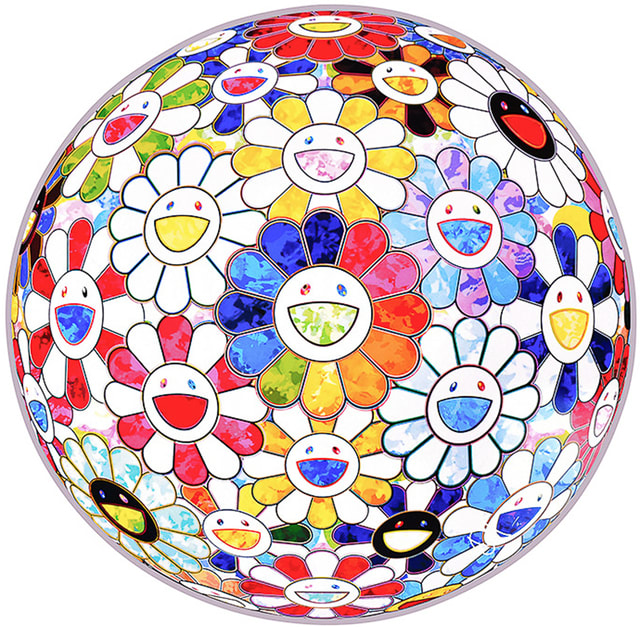 Takashi Murakami, Scenery With A Rainbow In The Midst, 2014