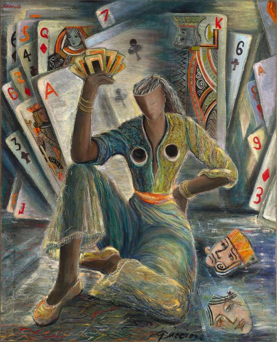 Juanita M. Guccione, Fortune Teller, c. 1948-51