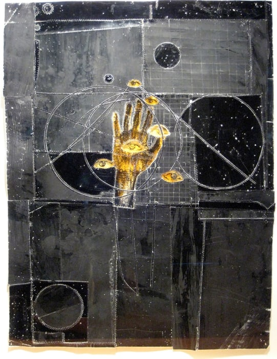 Christopher Pekoc, Study, Hand with Six Eyes, 1995