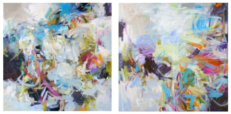 Susan Morosky, Blue Beach I & II (diptych)