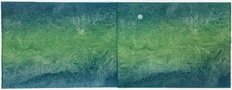 Lisa Schonberg, Earth Vista x 2 Blue Moon #3, 2018