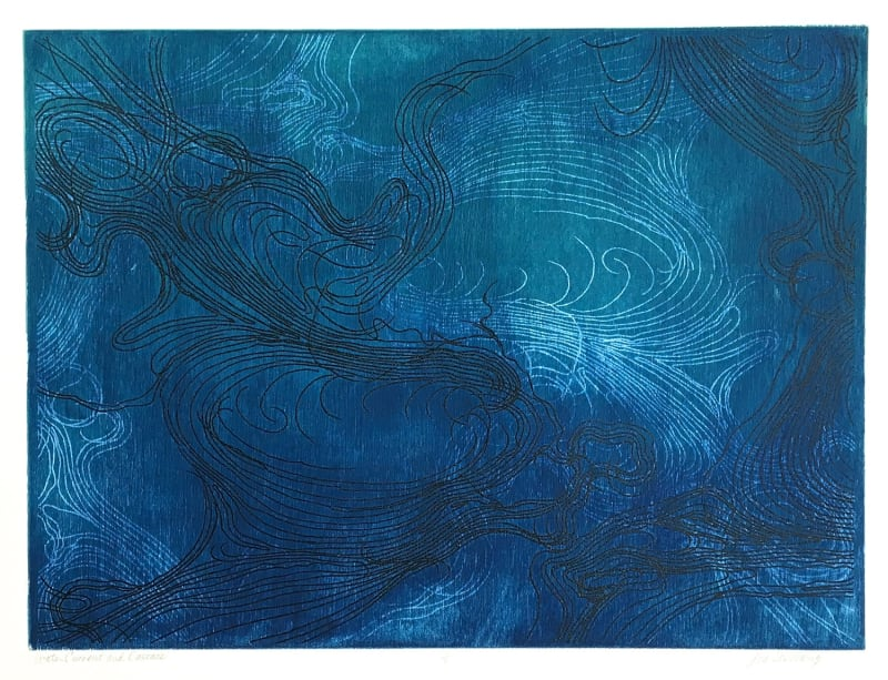 Lisa Schonberg, Water Current and Cascade, 2017