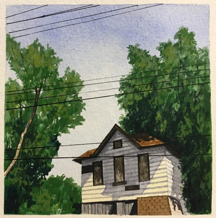 Christopher Burk, Connected - Cleveland, The Flats II, 2016
