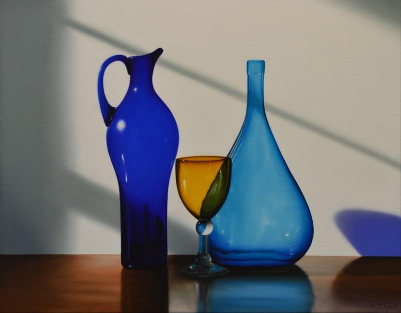 Michael Zigmond, Amber Blue (Bottles), 2011