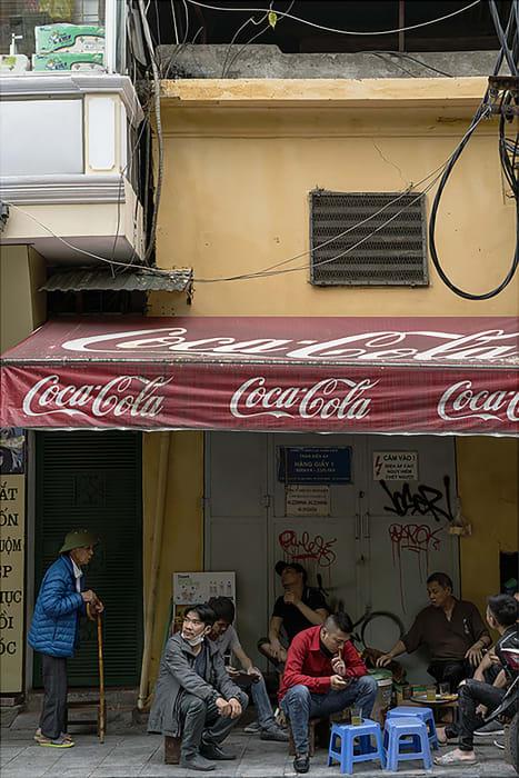 Garie Waltzer, Hanoi/Men Under CocaCola Awning, 2019/2021