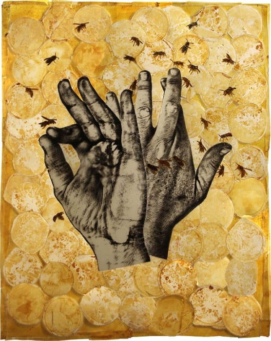 Christopher Pekoc, Joined III with Bees, 2016
