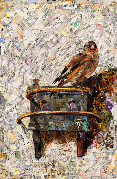 Vik Muniz, The Mauritshuis (The Goldfinch, after Carel Fabritius) (Repro), 2020