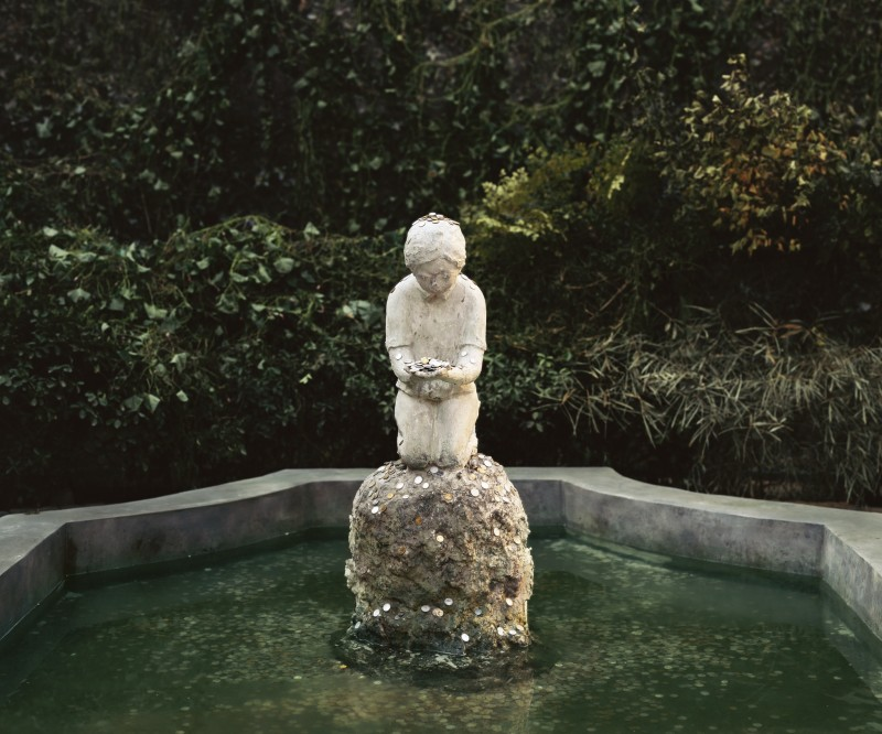 A Boy in the Fountain Basin