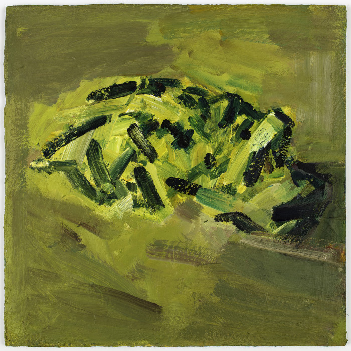 Frank Auerbach, Reclining Head of Julia, 2017-18