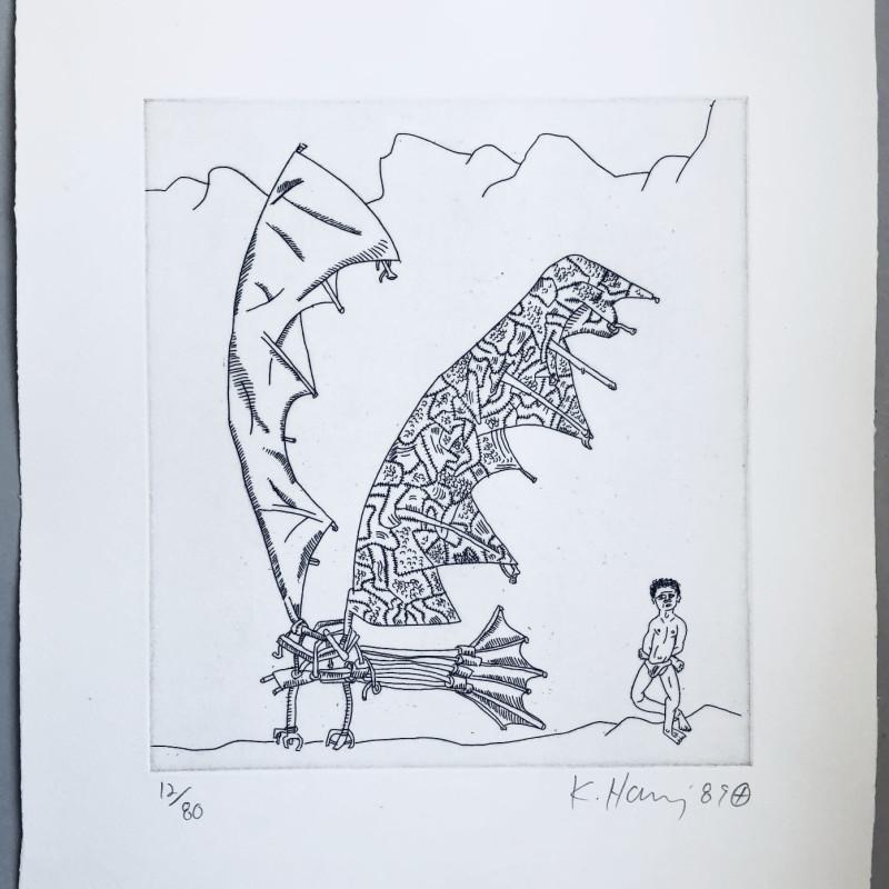 Keith Haring, Flying Machine, 1989