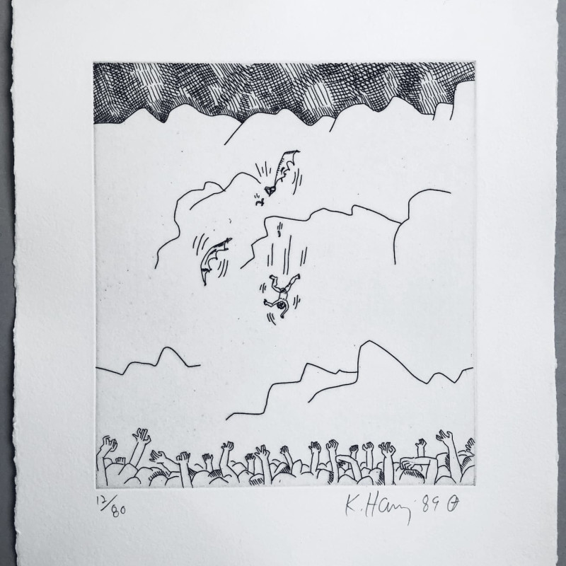 Keith Haring, Falling from the Sky, 1989