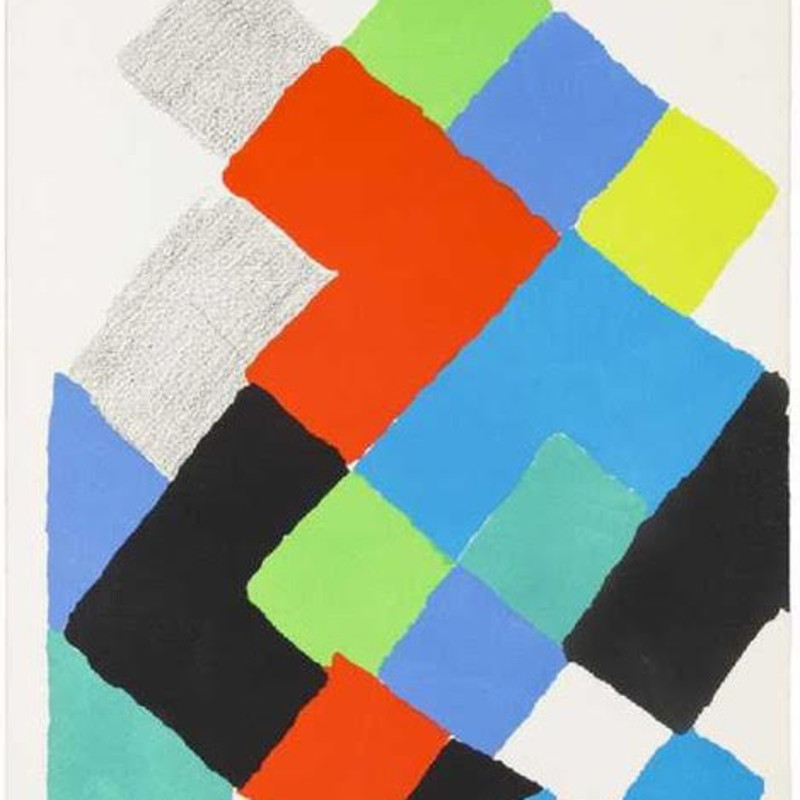 Sonia Delaunay, Untitled [Arthur Rimbaud, Les Illuminations] , 1973