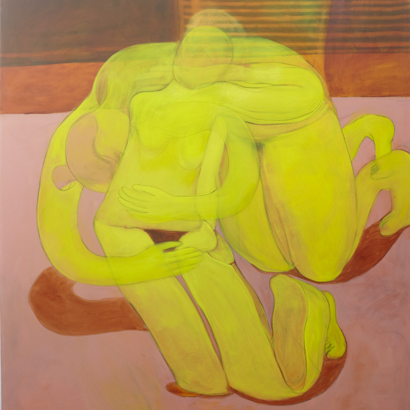 Tahnee Lonsdale, Embracing Yellow Nudes, 2018