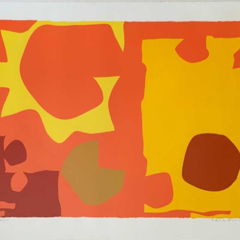 Patrick Heron, Six in Light Orange with Red in Yellow, 1970