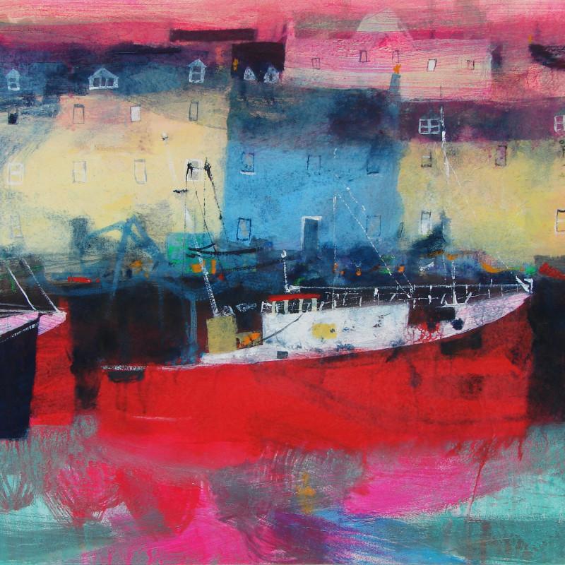 Caroline Bailey RSW - Red Boat Stornaway