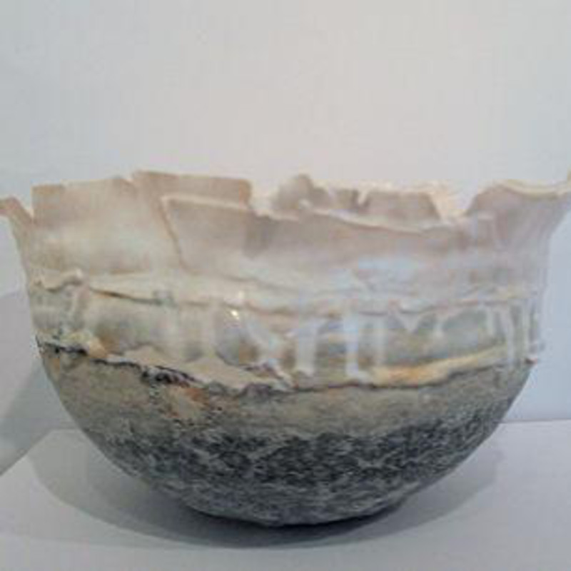 Hilary Laforce - Fragile landscape, silver crystal glaze