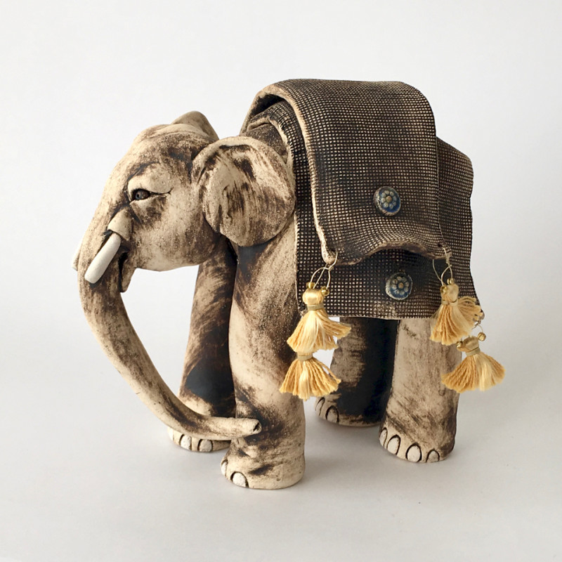 Lesley Anne Greene, Rani elephant with blankets & tassels