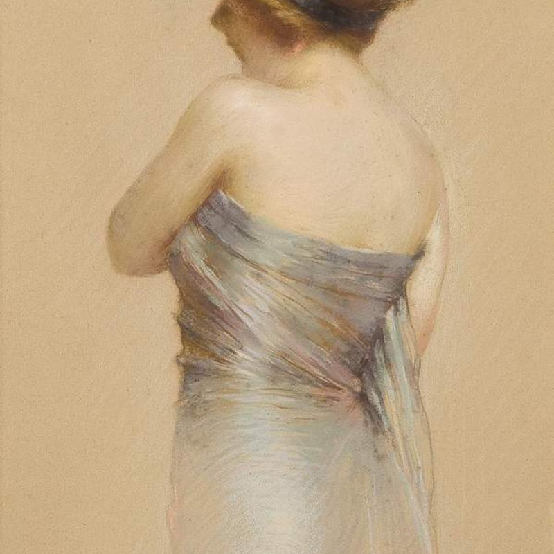 Gaston Bouy - The satin dress