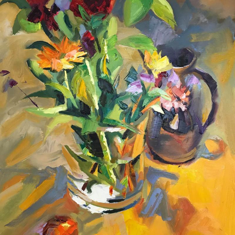 Alex Brown - Mixed flower in glass vase