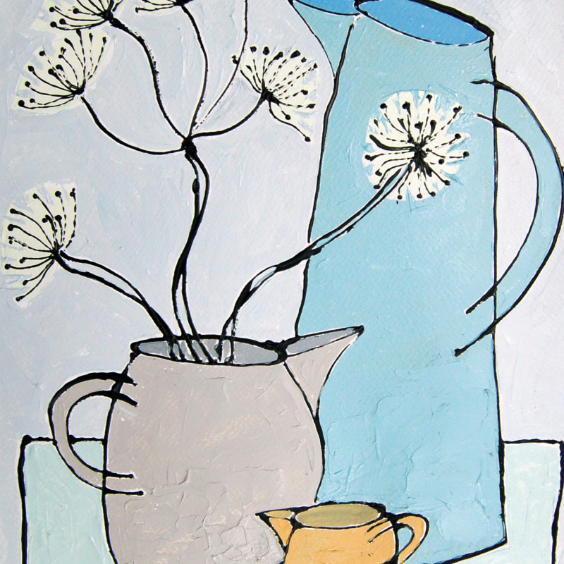 Jacky Hawthorne - Jug with Allium heads