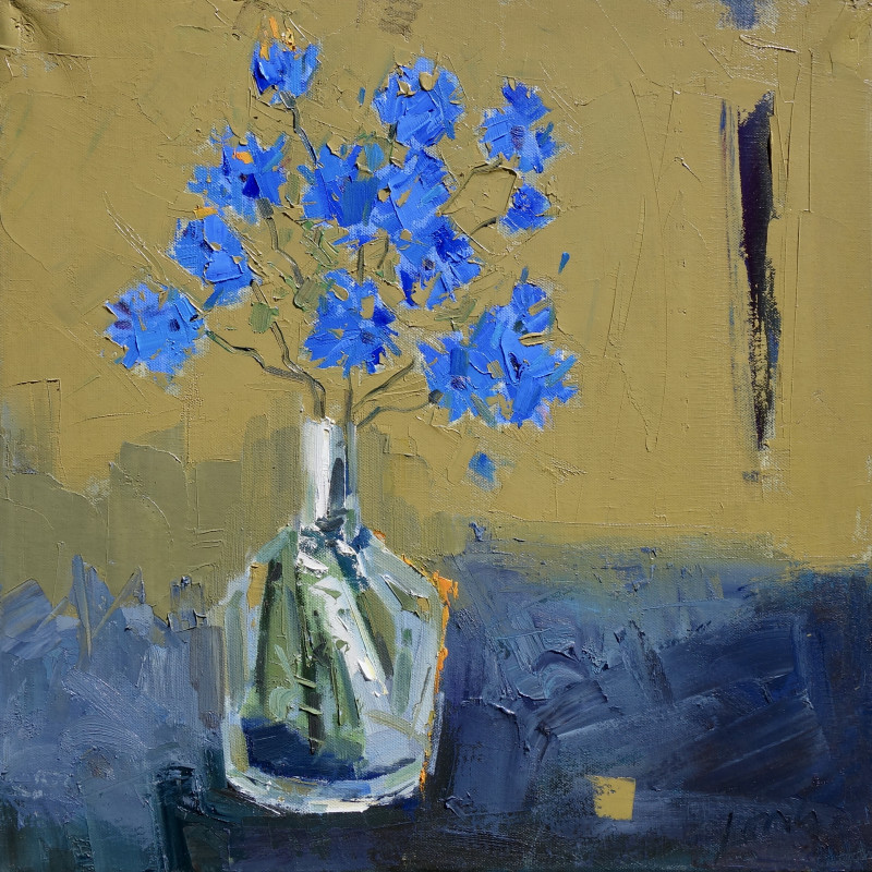 Gary Long - Blue on Ochre