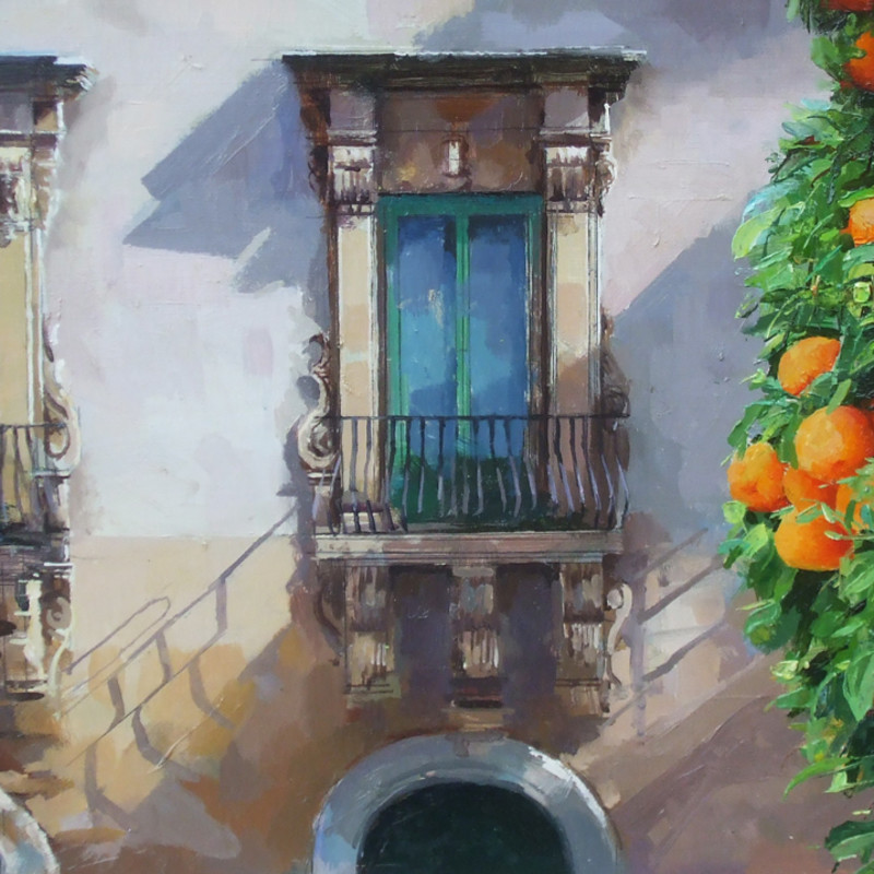Alan Thompsn, Sicilian palace - orange tree
