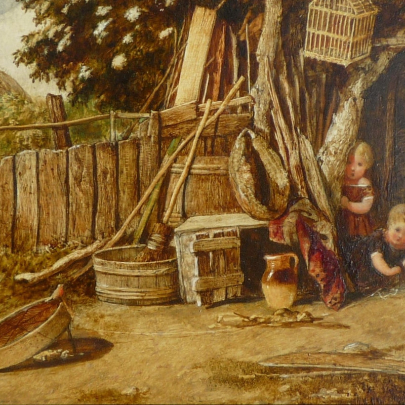 John Henry Dell - Pair of Paintings of Children Playing