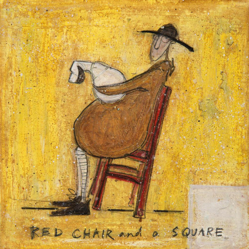 Sam Toft - Red chair & a square