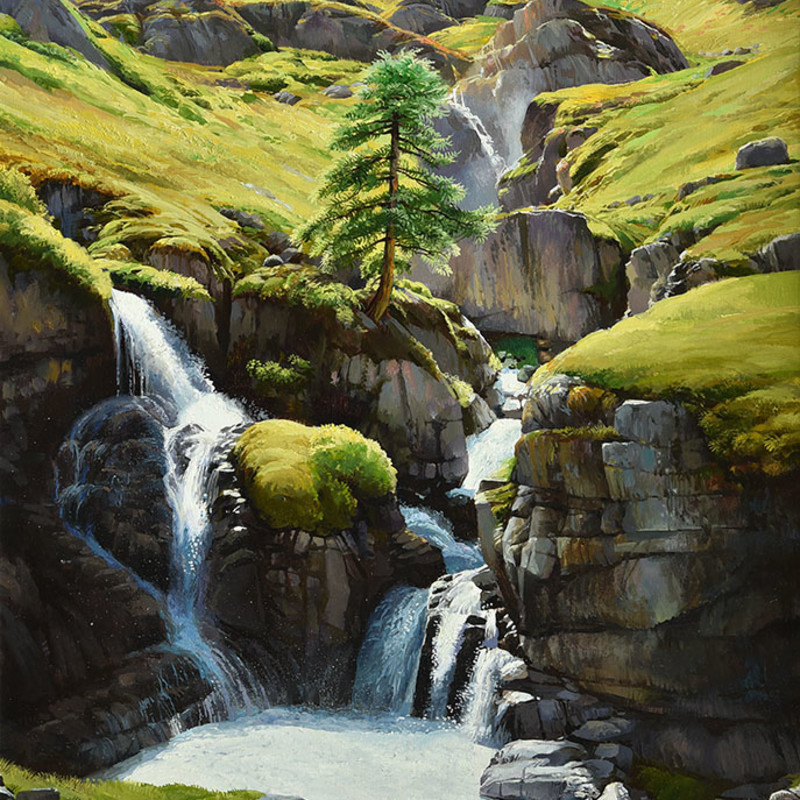 Alan Thompson - Waterfalls in the Italian Alps