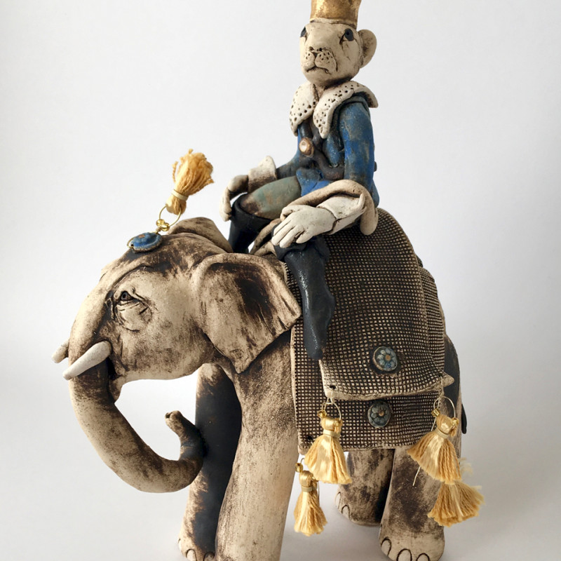 Lesley Anne Greene - Mouse King riding an elephant