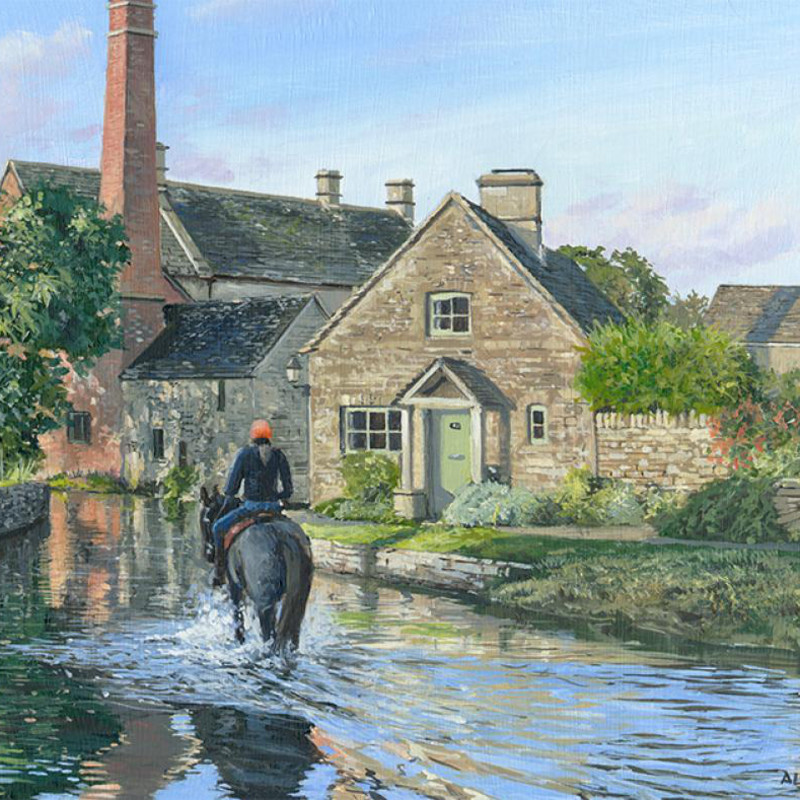 Alistair Butt RSMA - Crossing the ford - Lower Slaughter