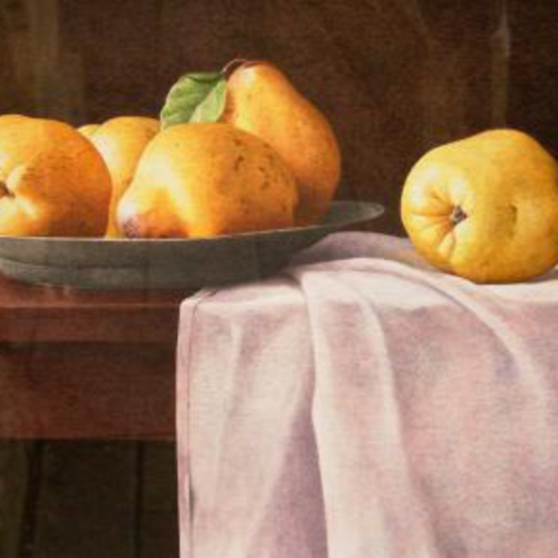Nigel Ashcroft - Pears on a pewter plate