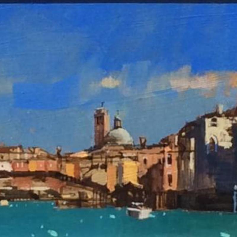 David Sawyer RBA, The green dome San Piccolo, Venice