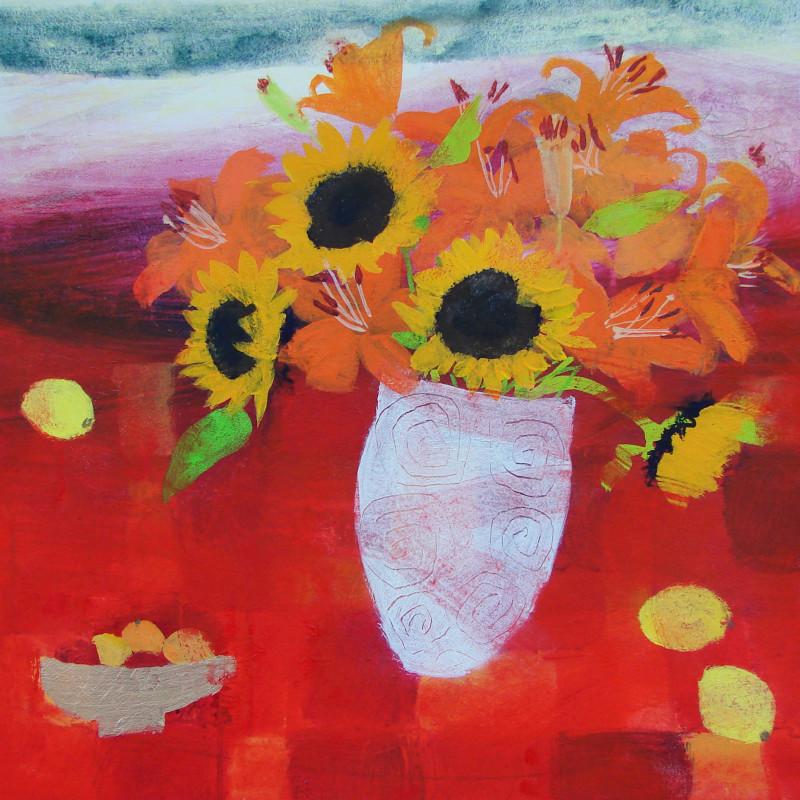 Caroline Bailey RSW - Flowers on a Misty Day
