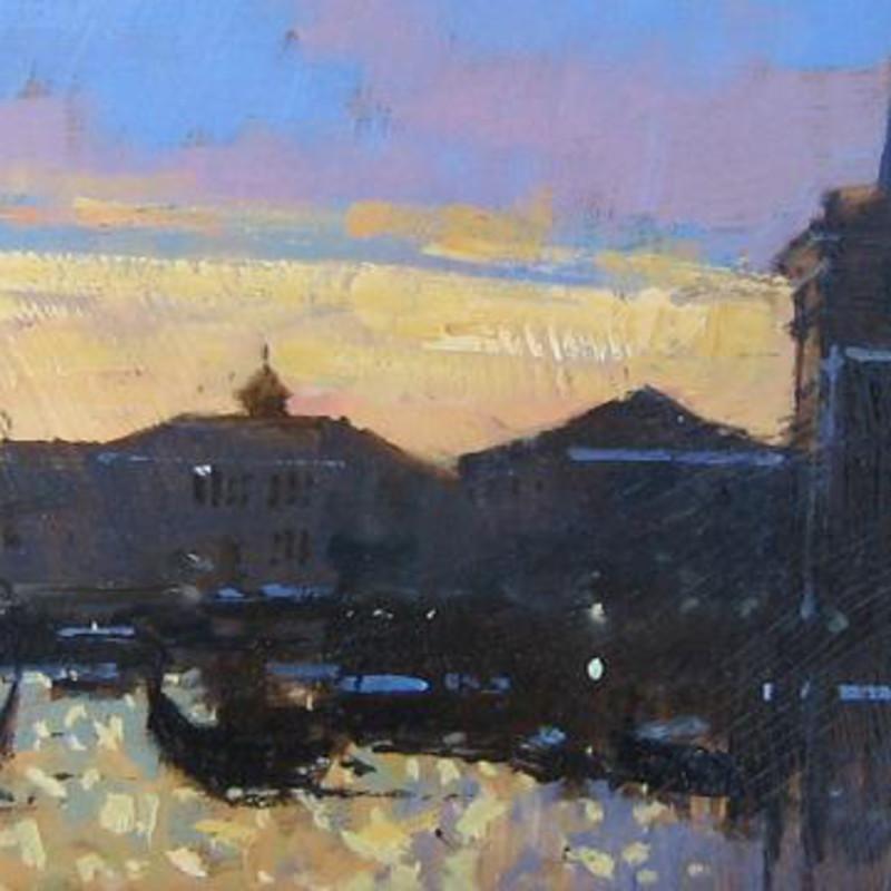David Sawyer RBA, Sunset, the Grand Canal, Venice