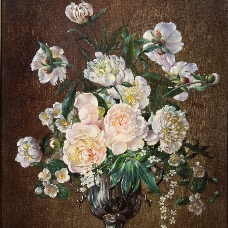 Cecil Kennedy - White Peonies