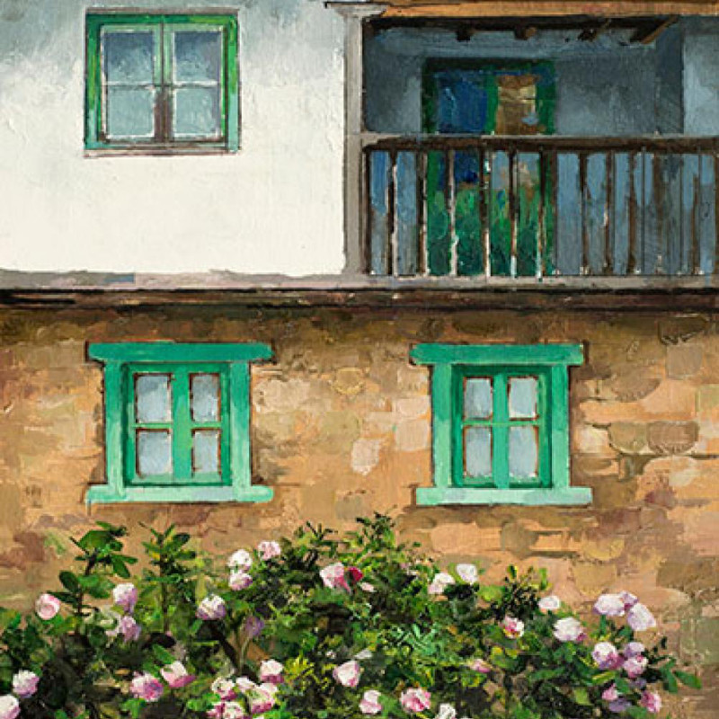 Alan Thompson - Corsican house with roses