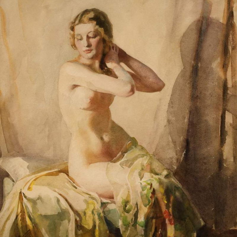Doris Pusinelli - Seated Nude