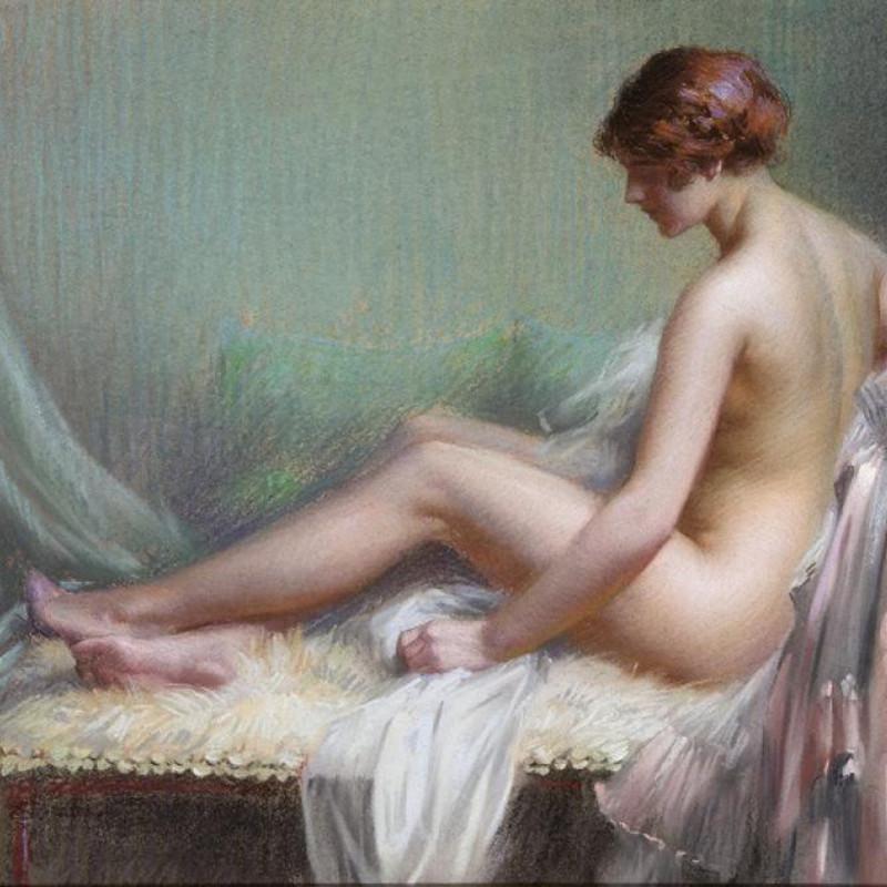Delphin Enjolras - Femme nue allongee sur son canape
