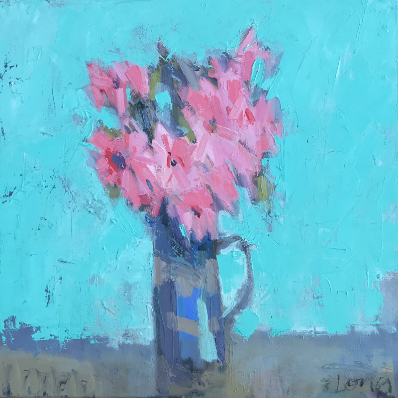 Gary Long - Pink in blue