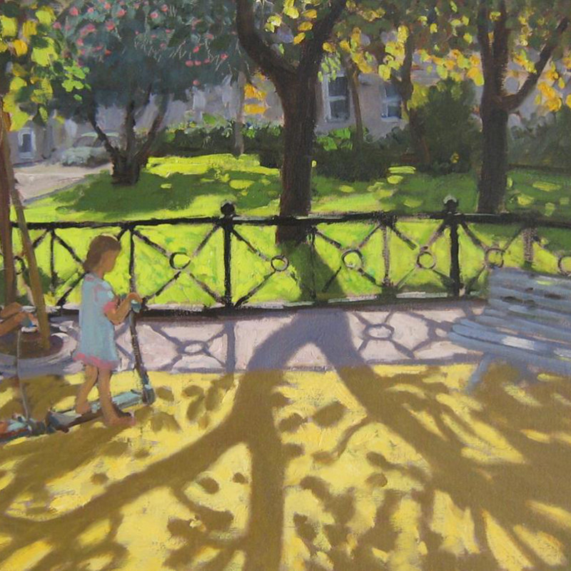 Andrew Macara RBA NEAC - Two children in the park