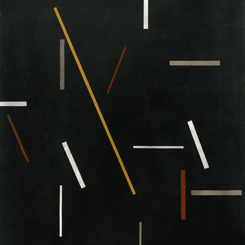Michael Canney - Composition with Gold Line, 1970