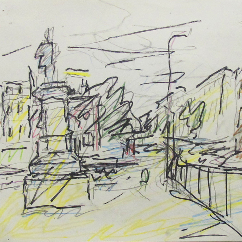 Frank Auerbach - Study for Mornington Crescent - Summer Morning