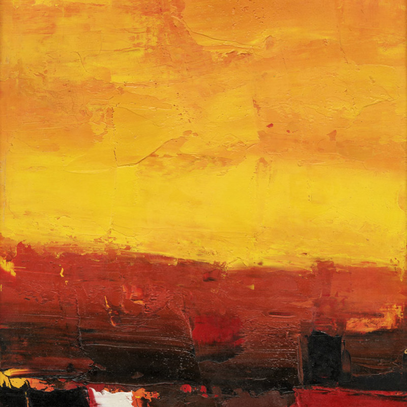 Peter Kinley - Vertical Landscape, Yellow and Red