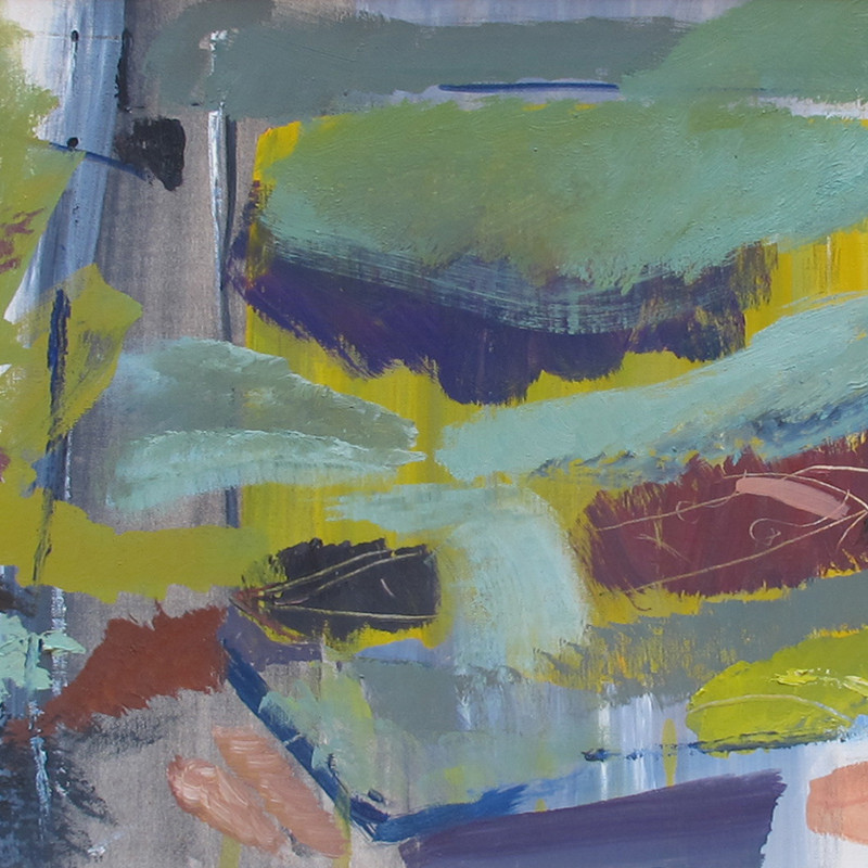 Ivon Hitchens - Brown Boat Amid Green Foliage