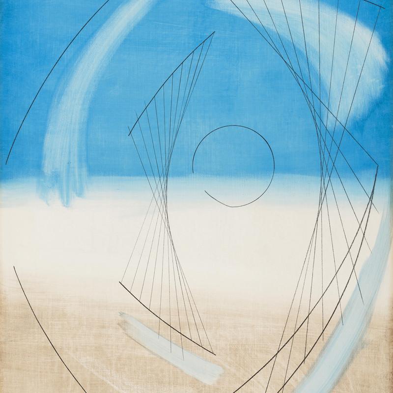 Barbara Hepworth - Atlantic Form (Blue)