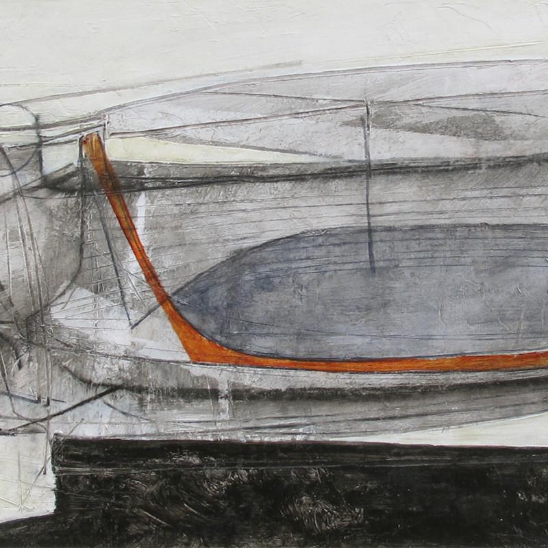 Leigh Davis - Moored Boat, Newlyn Quay
