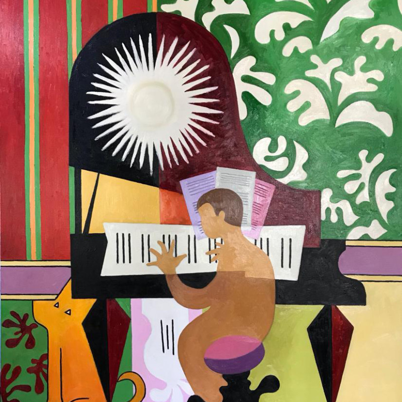 Erik Renssen - Pianist and dog, 2019