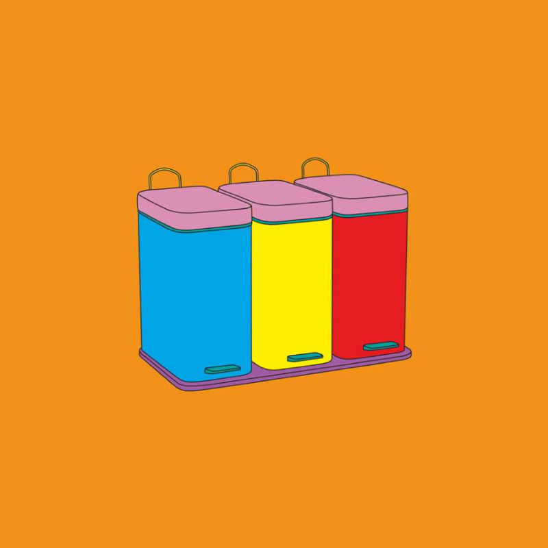 Michael Craig-Martin, Recycling Bins